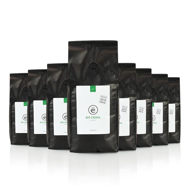 Bio Crema Espresso 8x 1kg ganze Bohne | Vorratsbox