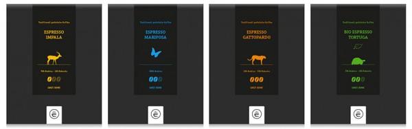 Espresso Tierserie Probierset 4x 200g ganze Bohne